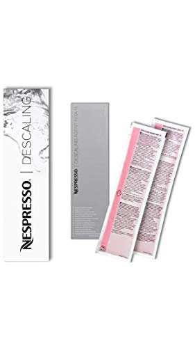 Nespresso - Descalcificador Descaler 3035/Cbu-2 Para los Modelos Essenza, Lattissima, Cube, Citiz, Pixie &Ndash; One Box With 2 Bags