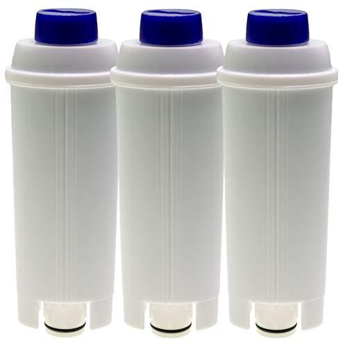 3 x filtr do wody kompatybilny z ekspresami do kawy DeLonghi Autentica ECAM23 Dedica Dinamica Eletta ESAM6720 Maestosa Perfecta PrimaDonna Magnifica S, identyczny z DLSC002 (14465)