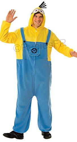 Rubie's Unisex Combinaison Pyjama Officielle Minions Jumpsuit, Gelb, S