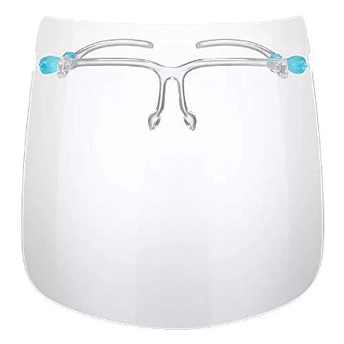 FRINKO 5 Stück Gesichtsschutz Visier Spuckschutz Schutzmaske Schutzvisier Gesichtsschild Maske Brillenhalterung Brille