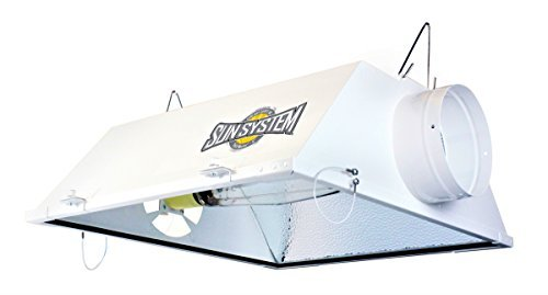 Sun System HGC904425 Grow Lights Yield Master Single Ended Cooled MH/HPS Reflector With 6' Air Duct Fittings For Hydroponic & Greenhouse Plant Use-ETL Listed, White