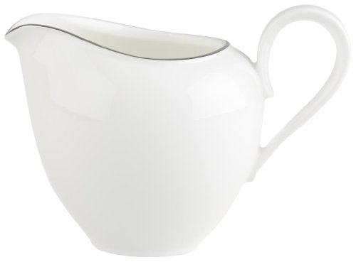 Villeroy & Boch Anmut Platinum No1 Cremiera, 6 Persone, 0.21 L, Porcellana Bone China, Multicolore