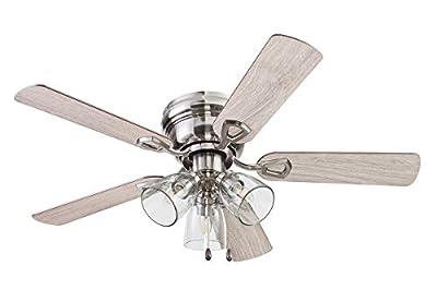 Portage Bay 51437 Renton Ceiling Fan, 42, Nickel