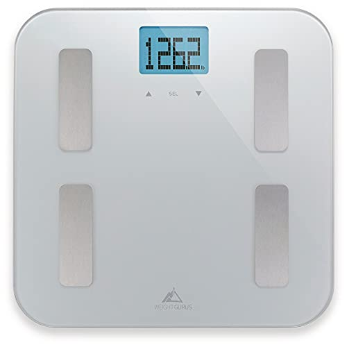 Weight Gurus Digital Body Fat Scale with Large Backlit LCD and...