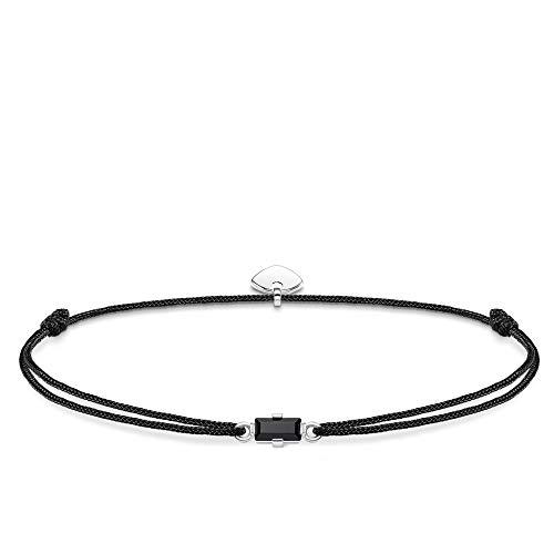 Thomas Sabo Damen-Armband Little Secret Schwarzer Stein Baguette-Schliff 925 Sterlingsilber LS0105-401-11-L20v