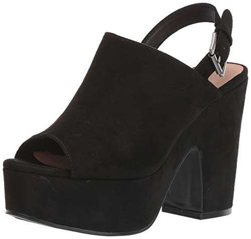 Chinese Laundry Women's Bella Heeled Sandal, Black Suede, 8.5 M US
