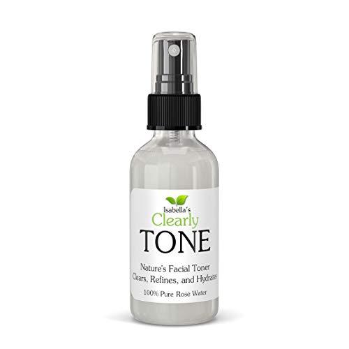 Clearly TONE - Mist Tónico de Agua Pura de Rosas. Minimizador de Poros. 100% Natural, Sin Alcohol, Sin Preservatives. Para Todo Tipo de Piel.