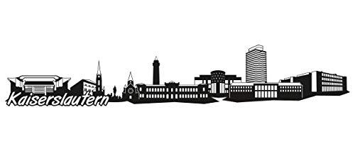 Samunshi® Kaiserslautern Skyline Wandtattoo Sticker Aufkleber Wandaufkleber City Gedruckt Kaiserslautern 120x22cm schwarz