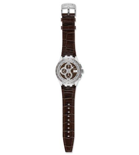 Swatch Herren-Armbanduhr Right Track Brown SVGK408