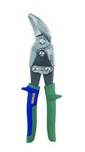 IRWIN 10504316N - Tijeras corta chapa corte curvado 20SR, curvas rectilíneas, en ángulo y a la derecha