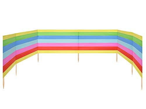Ladeheid Strand Windschutz Sichtschutz 8 m lang LAEX001 (Regenbogen)
