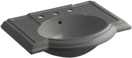 "KOHLER K-2295-8-58 Devonshire Bathroom Sink Basin with 8"" Centers, Thunder Grey"