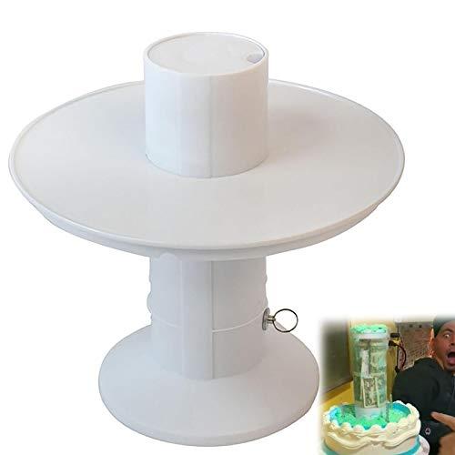 HHKX100822 Surprise Cake Soporte para Tarta, Sorpresa En El Interior del Pastel, Porta Pastel De Feliz CumpleañOs, Estante para Pastel Herramienta De Tortas De Gatillo 10 Pulgadas