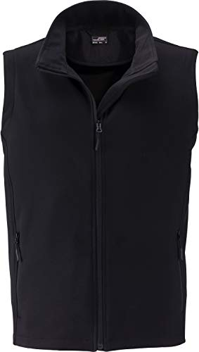 James & Nicholson Herren Men's Promo Softshell Vest Outdoor Weste, Schwarz (Black/Black), X-Large