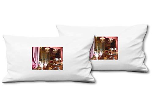 Glücksvilla Künstler-Foto-Kissen Set B, (2 STK.) 80 x 40 cm, Premium Zierkissen Motiv: Wie in...