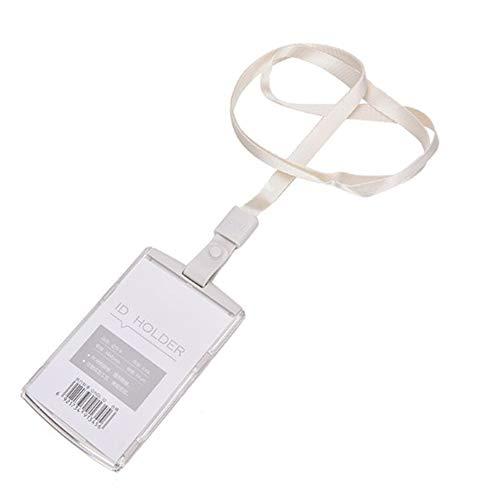 LanLan Estuche de la Tarjeta de identificación del Pasaporte del Bolso de la Tarjeta de la Cubierta del Pasaporte Titular de la Tarjeta de Visita con el cordón del Cuello