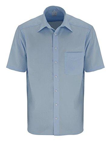 OLYMP Herren Hemd 02501215 LUXOR ÜG Kent PopelineGröße: 50, 50, Farbe:  blau