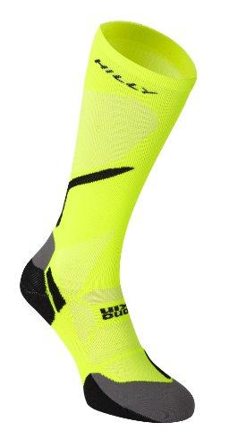 Hilly Vivid Kompressions Socken-Fluo Yellow Black-S