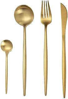 Arts de la Table Vaisselle Western Food en Acier Inoxydable Fourchette Couteau cuillère à thé Couverts Fourchette cuillère...