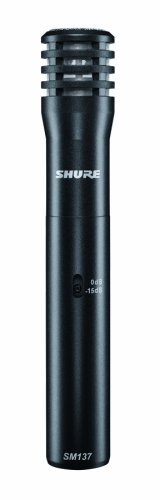 Shure SM137-LC Cardioid Condenser Microphone, includes Zipper Pouch and Microphone Clip