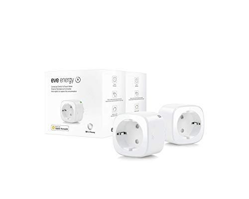 Smarte schaltbare Steckdose (deutsche Markenqualität), TÜV-zertifiziert, Verbrauchsmessung, Zeitpläne, schaltet Geräte ein & aus, keine Bridge nötig, Smart Plug, Apple Homekit, Bluetooth, Thread