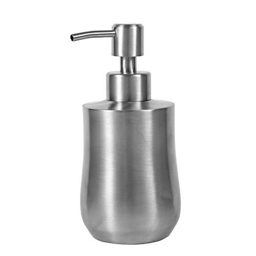 Yuuga Dispensador de jabón líquido, Acero Inoxidable 304 en Forma de cucurbita, Bomba de Ducha de baño, dispensador de loción, Botella de líquido de 350 ml