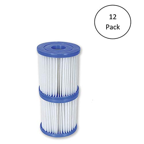 Bestway Flowclear Type V/Type K 330 GPH Replacement Filter Cartridge (12 Pack)