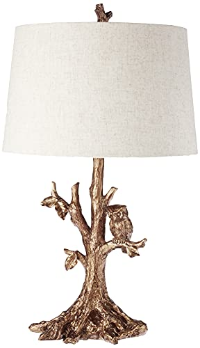 Decor Therapy Décor Therapy Gold Textured Leaf Owl Lamp