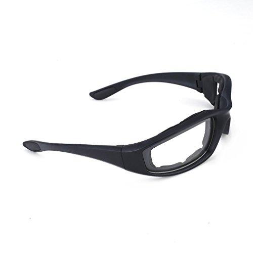 Motorradbrille Schutzbrille Fahrradbrille Radsportbrille Skibrille mit UV400 Outdoor Schutz für Damen und Herren Sonnenüberbrille Autofahren Laufen Radfahren Angeln transparent By Yxaomit - 6