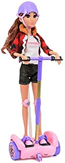 """Click N' Play Remote Control Hoverboard Pink & Purple Perfect For 12"""""""" Barbie Dolls. (Doll Not Included)"""
