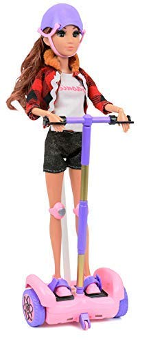 Click N' Play Remote Control Hoverboard Pink & Purple Perfect for 12' Barbie Dolls. (Doll Not Included)
