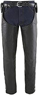 Milwaukee Leather SH1198-3X-BLACK Beltless Chaps (Black,  3X-Large)