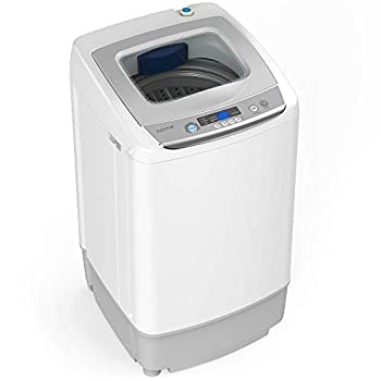 hOmeLabs Portable Washing Machine - 6 Pound Load Capacity 0.9 Cubic Foot Interior Top Loading 5 Wash Cycles and LED Display - Perfect for Apartments RVs and Small Space Living