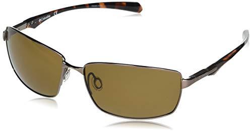 Columbia Men's Trollers Best Rectangular Sunglasses, Walnut/Brown Polarized, 62 mm
