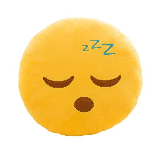 OLIGEI Lindo cojín redondo de la emoción del triángulo de la almohada de la felpa del juguete de peluche decorativo lindo regalo marrón para los niños/amigos (sueño)