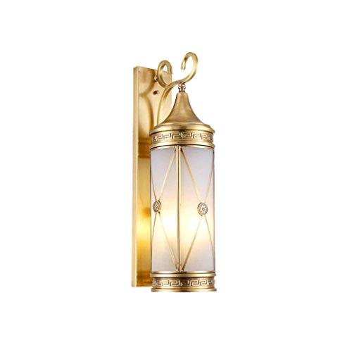 YYF Lámparas de Cobre Luz de la Puerta Delantera Luz de la Pared Exterior