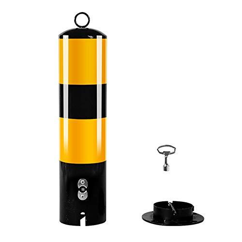 XGGYOOG Poller Absperrpfosten Sicherheitspfosten Aus Stah Für Einfahrten, Verhindern Von Rost, Einfache Installation/Als zeigen / H50cm