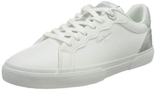 Pepe Jeans Kenton Supra, Zapatillas Mujer, 800 Blanco, 36 EU
