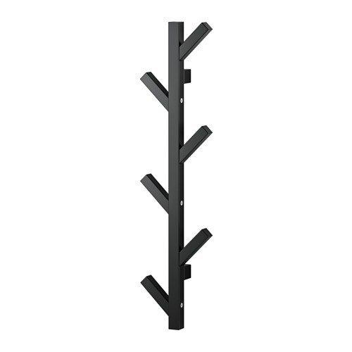 IKEA TJUSIG Aufhänger in schwarz; (78cm)