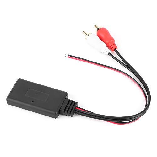 YOPOTIKA 1Pc Adaptador de Módulo Bluetooth Inalámbrico Aux Audio 2 RCA Cable Auxiliar Conector de Radio de Coche Universal Negro