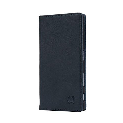 32nd Classic Series - Funda Tipo Libro de Piel Real para Sony Xperia Z5, Carcasa de Cuero Premium diseñada con Cartera, Cierre Magnetico y Soporte Integrado - Verde Cazador