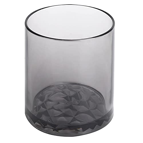 Alvinlite Taza para Vino Leche Té Agua Café En Forma de Diamante Fondo de Diamante Reutilizable(Gris)
