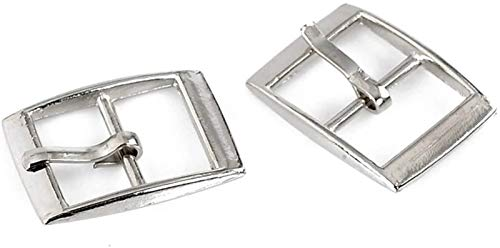 """Housweety 30 Silver Tone Shoes Buckles Accessory 25x19mm(1""""x6/8""""),Inside Wide:14.5mm"""