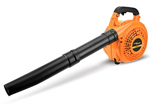 SALEM MASTER 26CC 2-Cycle Gas Powered Leaf Blower, Cordless Handheld Sweeper Blower Leaves Snow Dusty Clean for Garden, Lawn, Decks and Walkways