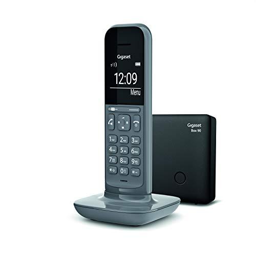 """Gigaset CL390 Telefono Cordless, Funzione Black List e """"Non disturbare"""", Vivavoce, Display Ampio, Standard, Grigio [Versione Italiana]"""