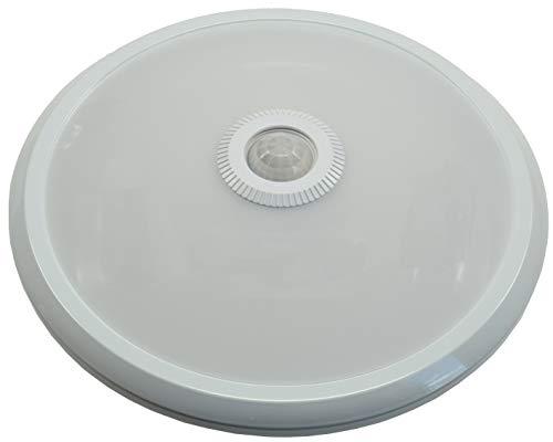 Deckenleuchte mit Bewegungsmelder Rund Ø 29cm 12Watt 360° Sensor Weiß Licht Warmweisses Licht