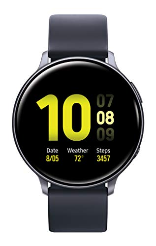 Samsung Galaxy Watch Active 2 (44mm, GPS, Bluetooth) Smart Watch with Advanced Health Monitoring, Fitness Tracking , and Long Lasting Battery, Aqua Black  (US Version)