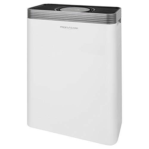 ProfiCare PC-LR 3076 Luftreiniger mit Ionisierung für Räume bis zu 60m², 4-fach Filtersystem, APD-Sensor, Ionen-Funktion, 3 Betriebsmodi, Sensor Touch-Bedienung, weiß