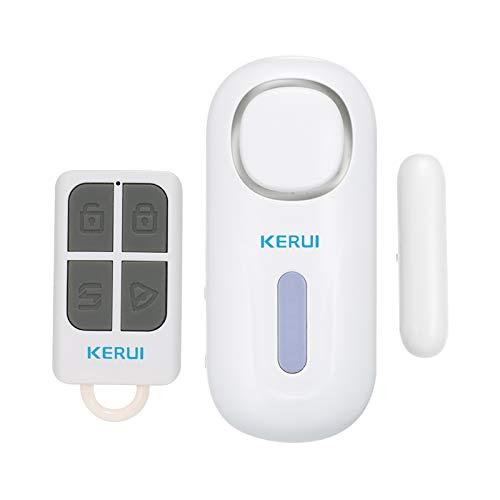 KKmoon Sensor de Puerta Magnético Inalámbrico Alarma Independiente Abierta para Sistema de Alarma de Seguridad para el Hogar