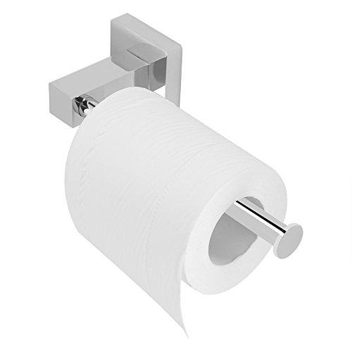 Garosa Toiletpapierhouder, hygiënisch, roestvrij staal, bevestiging aan de muur van papieren doekjes, keukenrolhouder, roestvrij, moderne stijl, voor keuken in de badkamer